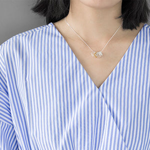 Fashion Multiple Square Clavicle Necklace Silver Geometric Rectangle Pendant Charm Gold color Jewelry - Acecare Jewellery Store