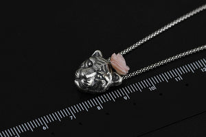 Silver necklace bear pendant jewelry for women - Acecare Jewellery Store