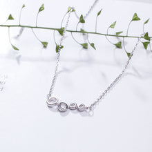 Load image into Gallery viewer, Silver personality four small circle necklace for women (wholesale) - Acecare Jewellery Store