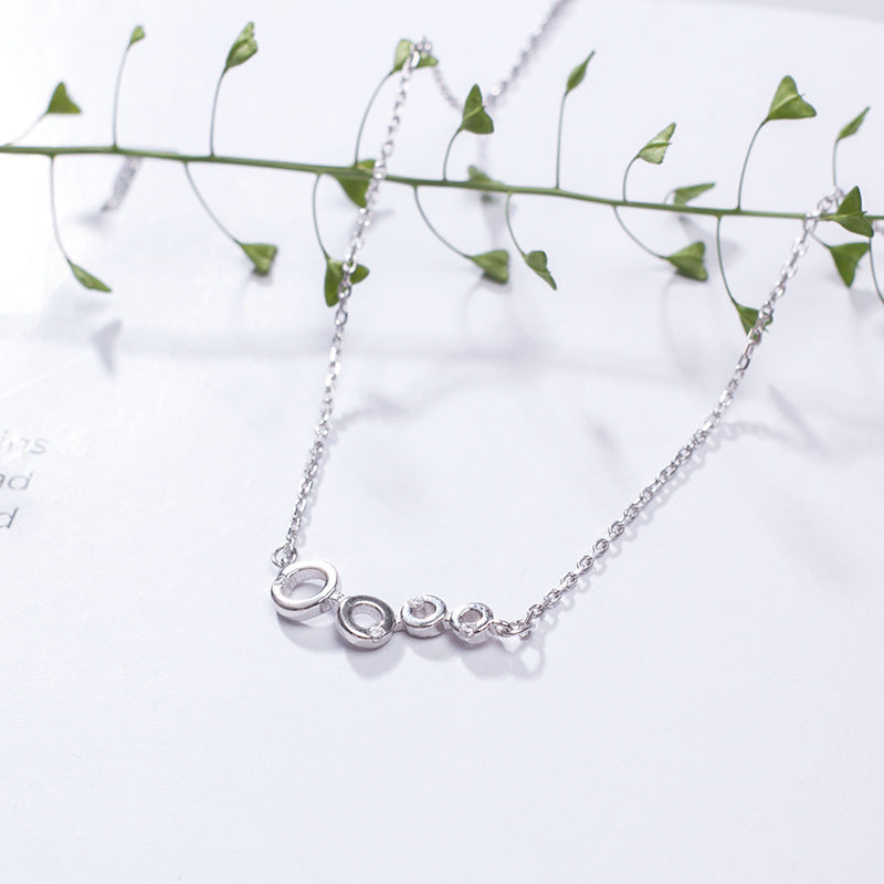 Silver personality four small circle necklace for women (wholesale) - Acecare Jewellery Store