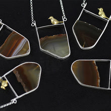 Load image into Gallery viewer, Creative Bird Origional Agate Stone Novelty Necklace/ Natural Agate Pendant Jewelry - Acecare Jewellery Store