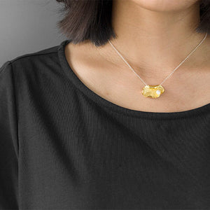 Leaf Insert Pearl Necklace Pendant - Acecare Jewellery Store