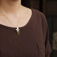 Load image into Gallery viewer, Women necklace Originally crafted pure silver Dragonfly Flower Pendant without chain - Acecare Jewellery Store