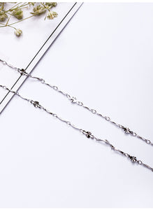 Silver necklace pendant with chain Korean clavicle unisex silver chain(adjustable) - Acecare Jewellery Store