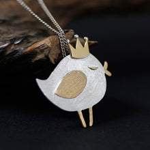 Load image into Gallery viewer, Sterling silver necklace (Originality Lovely Dummy Princess Bird Series) pendant without chain - Acecare Jewellery Store