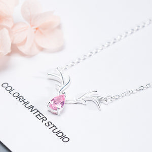 Silver antler necklace female Korean version of the fashion clavicle chain - Acecare Jewellery Store