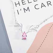 Load image into Gallery viewer, Silver antler necklace female Korean version of the fashion clavicle chain - Acecare Jewellery Store