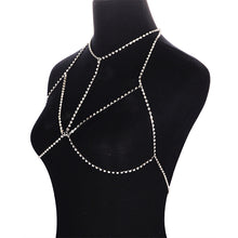 Load image into Gallery viewer, Rhinestone Sexy Bikini Bra Body Chain Gothic Body-Hugging Necklace Chain Jewelry - Acecare Jewellery Store