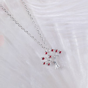 Silver cherry tree pendant necklace - Acecare Jewellery Store