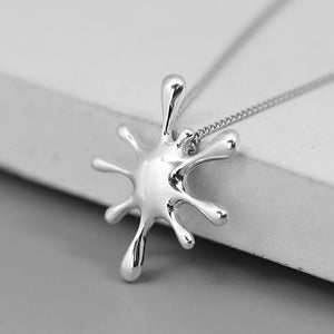 Pure Silver Character Metal Simple Introvert pendant without chain - Acecare Jewellery Store