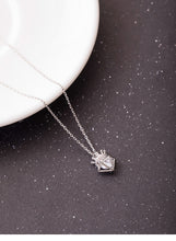 Load image into Gallery viewer, Hollow zircon crown necklace female temperament personality three-dimensional diamond small short chain - Acecare Jewellery Store
