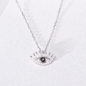 big eyelash necklace natural zircon material inlaid mirror polishing craft silver - Acecare Jewellery Store