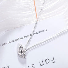 Load image into Gallery viewer, big eyelash necklace natural zircon material inlaid mirror polishing craft silver - Acecare Jewellery Store