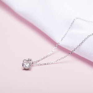 New cross inlaid zircon set chain | Korean version of the small fresh necklace | for Women - Acecare Jewellery Store