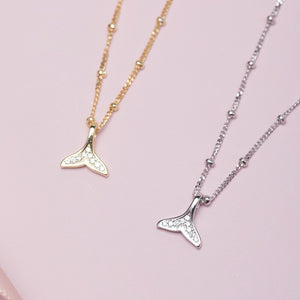 New small fresh mermaid tail gold-plated necklace for women | Korean style - Acecare Jewellery Store