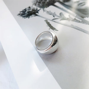Retro Simple Smooth Mirror Wide Brand Rings Finger Rings Jewelry - Acecare Jewellery Store