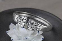 Load image into Gallery viewer, Concave Metal Flower Lotus Open Cuff Bangle Bracelet Jewelry - Acecare Jewellery Store