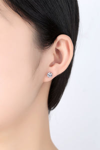 Simple Six-Claw Zircon Set Ear Stud Necklace Ring Three-Piece Hipster Jewelry - Acecare Jewellery Store