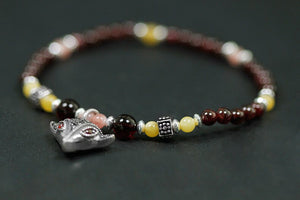 Handmade Beads Garnet All Size Stretch Bracelets - Acecare Jewellery Store