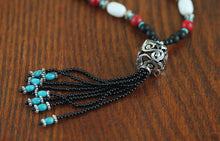 Load image into Gallery viewer, Handmade Beaded Design Sweater Chain Ethnic Wind Agate Turquoise necklace - Acecare Jewellery Store