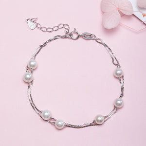 Double beaded bracelet handwear jewelry - Acecare Jewellery Store