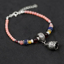 Load image into Gallery viewer, Silver string beads treated trees  coral beads bracelet head bells - Acecare Jewellery Store