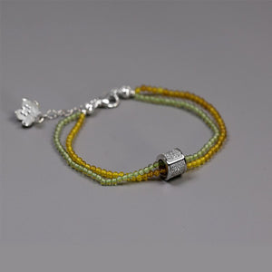 Handmade beaded agate small flower bracelet female multi-layer bracelet - Acecare Jewellery Store