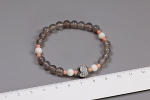 Handmade beaded agate stretch bracelet for women - Acecare Jewellery Store