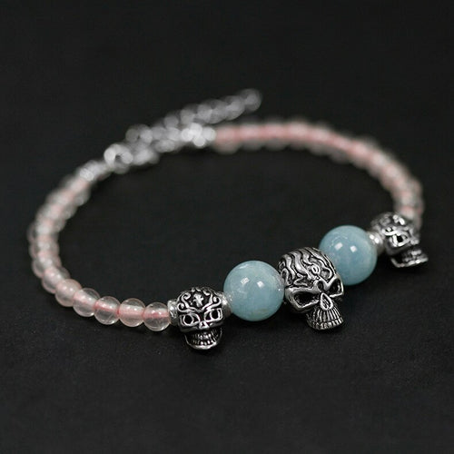 Silver ornament Handle Beads Hai Baobao Skull Bracelet Bracelet  Wholesale - Acecare Jewellery Store
