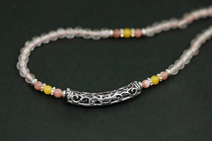 Silver hand-beaded bead  necklace Ornaments (wholesale) - Acecare Jewellery Store