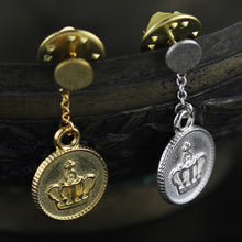 Load image into Gallery viewer, Jewelry-Neutral Brooch Pin with Royal Crown Coin Lapel Pin - Acecare Jewellery Store