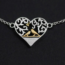 Load image into Gallery viewer, Silver Heart Lock Pure Silver Double Heart Puzzle Bracelet - Acecare Jewellery Store
