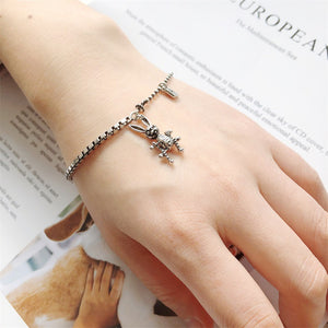 Rabbit Thai Silver  Chain Punk Gothic Bracelet - Acecare Jewellery Store
