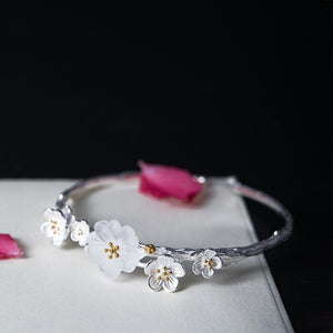 Handmade Silver bracelet with adjustable opening - Acecare Jewellery Store