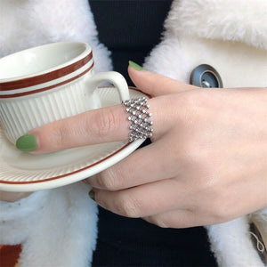 Retro Punk Ball Hollow Open Ring Unique Design for Women - Acecare Jewellery Store