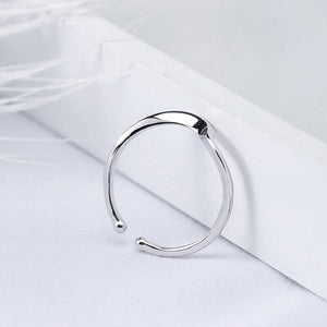 Silver water ripple design opening ring jewelry - Acecare Jewellery Store