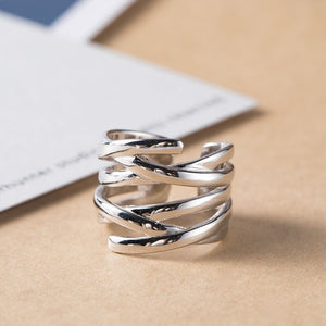 Multi-layer winding simple line weaving open ring - Acecare Jewellery Store