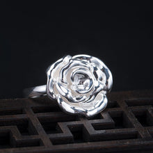 Load image into Gallery viewer, Ancient style silver rose open ring for women (wholesale) - Acecare Jewellery Store