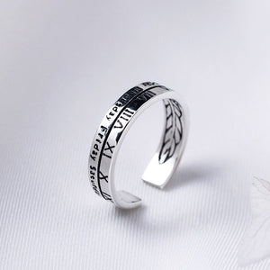 Roman number open finger ring jewelry - Acecare Jewellery Store