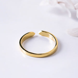 Silver adjustable ring for men and women jewelry - Acecare Jewellery Store