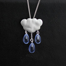 Load image into Gallery viewer, Silver jewelry pendants original summer clouds tassled crystal pendant