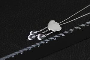 Silver jewelry pendants original summer clouds tassled crystal pendant