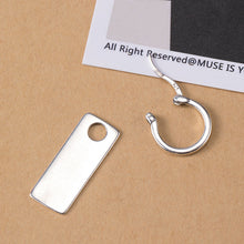 Load image into Gallery viewer, Silver style design dream square earrings
