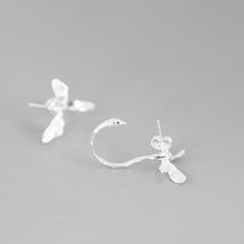 Load image into Gallery viewer, Dragonfly Silver Pendant Vivid Drop Dangle Earrings