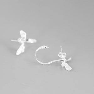 Dragonfly Silver Pendant Vivid Drop Dangle Earrings