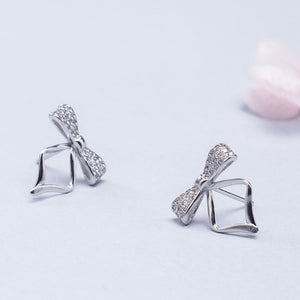 New clip ear studs white fungus earrings