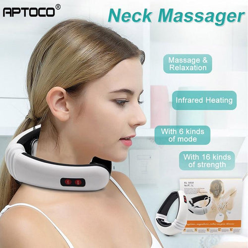Neck Massager | Electric Pulse Massage | Electrode Patch Therapy | Health Care - Relaxation | Massage & Relaxation