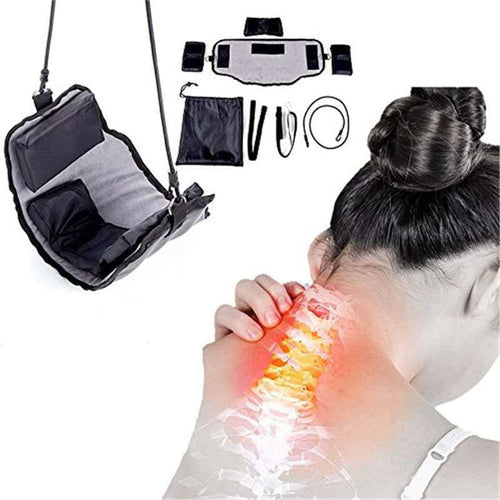 Neck Massager Device Kit Neck Hammock In Door Adjustment Chiropractic Back Head Massager Relaxation 40#