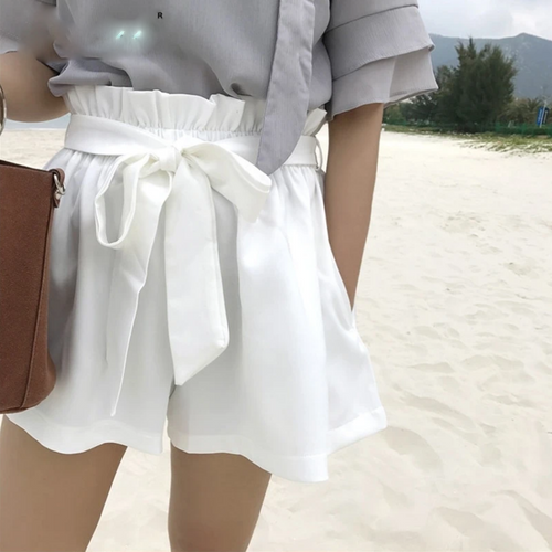 high waist shorts women  Solid color pocket