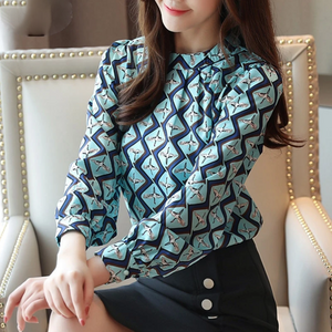 Long Sleeve O-neck Blouse